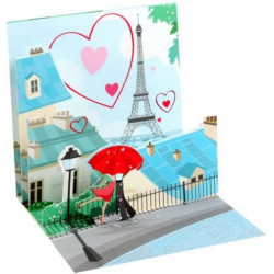 Mini carte pop-up Paris