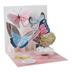 Mini carte pop-up Papillons...