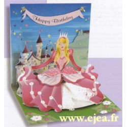 Carte pop-up Princesse