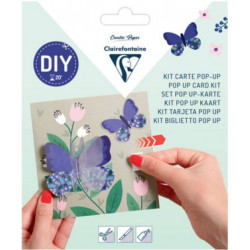 Kit DIY Carte Pop-up Papillons