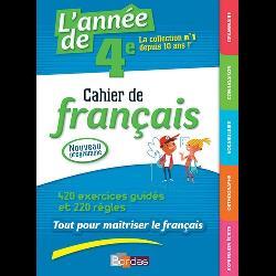 L'année de 4e  - Cahier de français