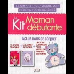 Le kit Maman débutante - Le guide pratique + Le carnet de bord + Une jolie suspension pour noter les horaires des dodos