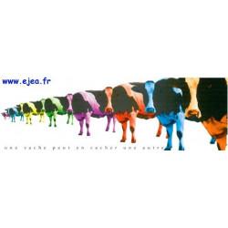 Carte marque-page Une vache...