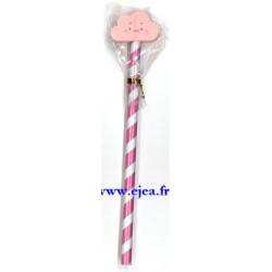 Crayon à papier Nuage rose