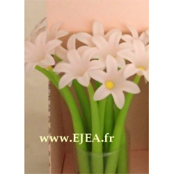 Stylo Fleur Jacinthe rose