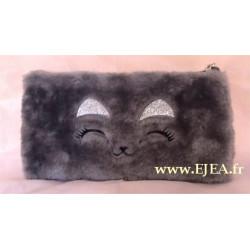 Fourre-tout Fourrure Chat gris