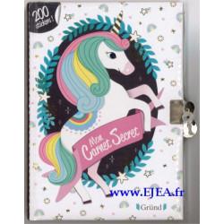 Mon carnet secret Licorne