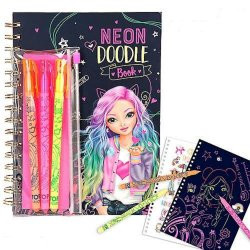 Top Model Neon Doodle Book