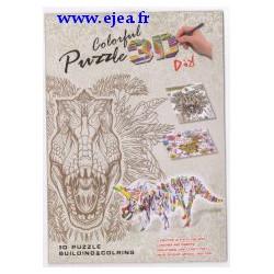 Puzzle 3D à colorier Dinosaure
