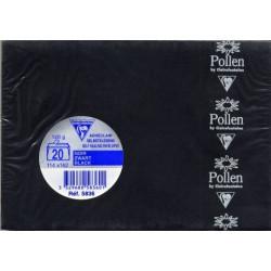 Pollen 20 enveloppes C6 NOIR