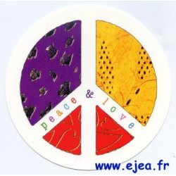 Carte ronde Peace & Love