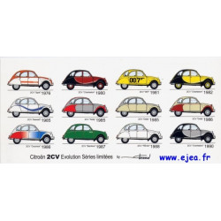 Carte 2CV Citroën Evolution...