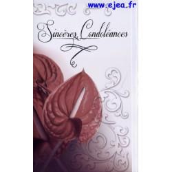Carte Sincères Condoléances...