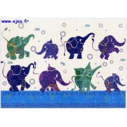 Carte postale Hanra Eléphants
