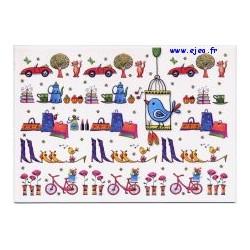 Carte postale Hanra Tea time