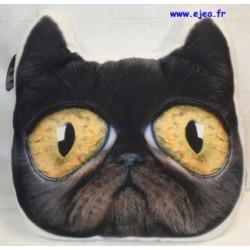 coussin forme chat noir