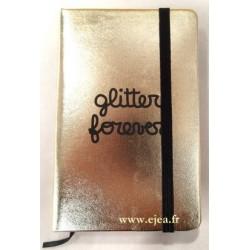 Carnet Glitter Forever A6 doré