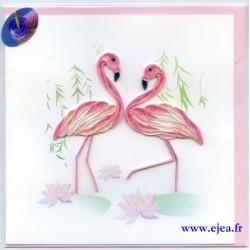 Carte Flamants roses en...