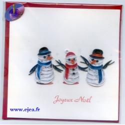 Carte Joyeux Noël Bonhommes...