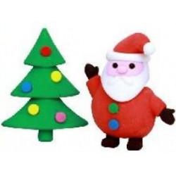Gommes Noël Sapin et Père Noël