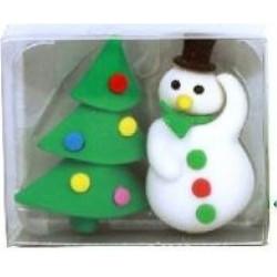 Gommes Noël Bonhomme et sapin