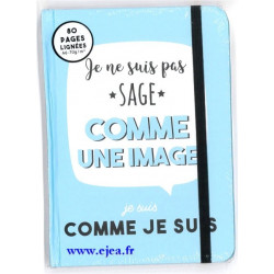 Carnet A6 bleu Sage