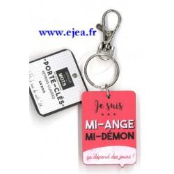 Porte-clé rouge Mi-ange