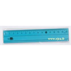 Régle alu 15cm bleue