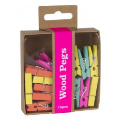 Pinces en bois Fluor Happy...
