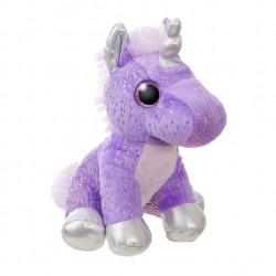 Licorne violette peluche 18cm