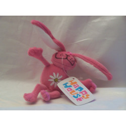 Peluche Happy House Lapin rose