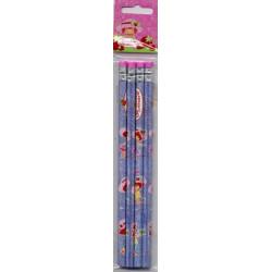 4 crayons à papier avec...