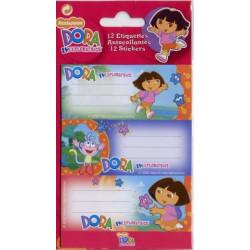 12 étiquettes Dora