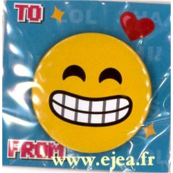 Badge Emoji Visage souriant