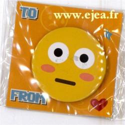 Badge Emoji Choqué