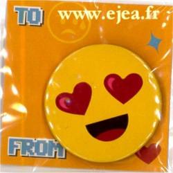 Badge Emoji Amoureux