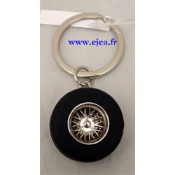 Porte-clé roue de voiture