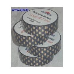 Masking tape Sapins dorés