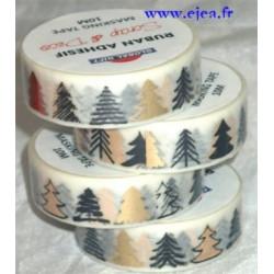 Masking tape Sapins noir et or