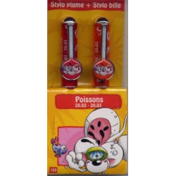 Parure stylos Poissons Diddl