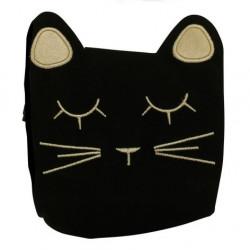 Petit sac tête de chat noir