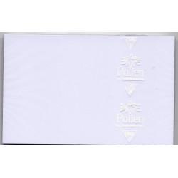 25 cartes blanches Pollen...