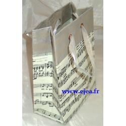 Sac cadeau musique gris...