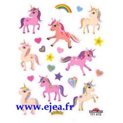 Stickers Mini Classy Licornes