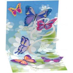 Mini carte pop-up Papillons
