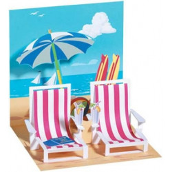 Carte pop-up Chaises longues