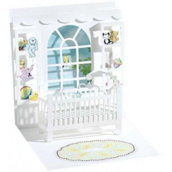 Carte pop-up Chambre de bébé
