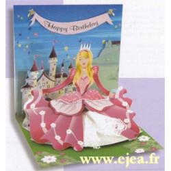 Carte pop-up Princesse