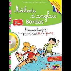 Méthode d'anglais Bordas à partir de 7 ans  - Je découvre l'anglais en voyageant avec Alice et Jerem