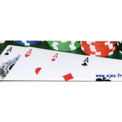 Carte marque-page Poker